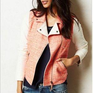Anthropologie Elevenses Tweed Moto Jacket